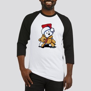 Christmas Teddy Bear Westie Baseball Jersey